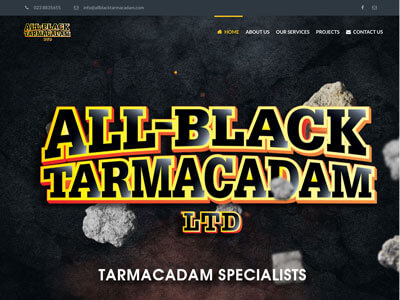All Black Tarmacadam website