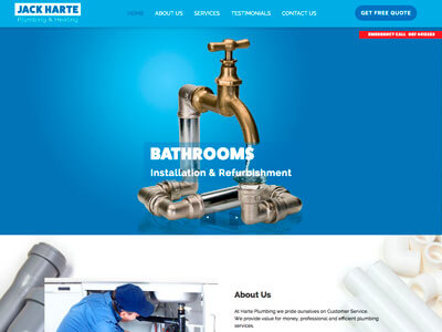 Jack Harte Plumbing website